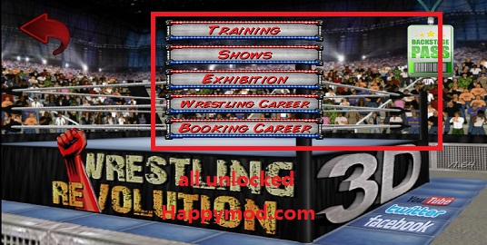 Wrestling Revolution 3D Mod apk download - Mdickie Wrestling