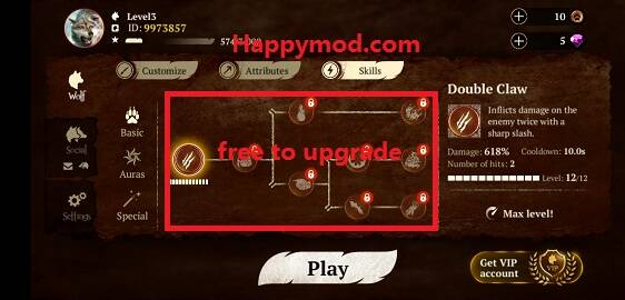 The Wolf Mod Apk 1.7.5 [Unlimited money][Free purchase][Free shopping]