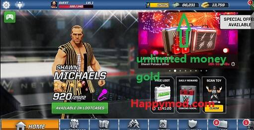 WWE Mayhem Mod Apk 1.14.275 [Unlimited money]